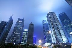 Shanghai nachts Stockfotografie