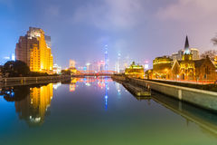 Shanghai nachts Stockfotos