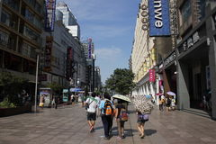 Shanghai Nanjing Road Royalty Free Stock Images