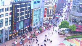 Shanghai - Nanjing Road stock footage