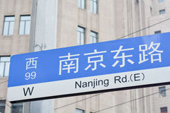 Shanghai- - Nanjing-Straße Lizenzfreie Stockfotografie