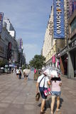 Shanghai Nanjing väg Royaltyfri Foto
