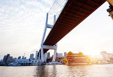 Shanghai Nanpu Bridge Royalty Free Stock Photo