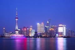 Shanghai natt Royaltyfri Fotografi