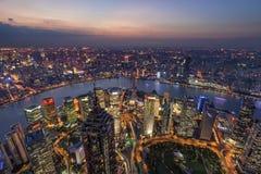 Shanghai natt Arkivfoto