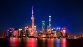 Shanghai natt Royaltyfri Bild