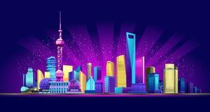Free Shanghai Neon City Stock Photo - 128717200