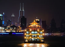Shanghai at night. Stock Photos