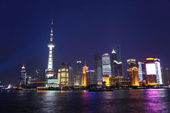 Shanghai night. Shanghai skyline at night, china Stock Images