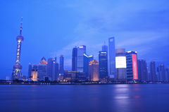Shanghai by night Stock Photos