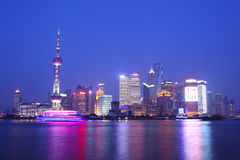 Shanghai at night. Downtown Shanghai at night, China Stock Images