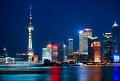 Shanghai night Stock Photos