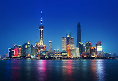 Shanghai at night Stock Images