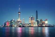 Shanghai at night. In China Stock Photo