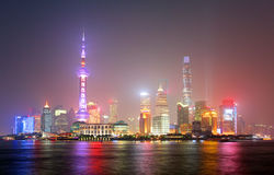 Shanghai at night Royalty Free Stock Photo