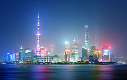 Shanghai at night, China. Shanghai at a night, China Royalty Free Stock Photography