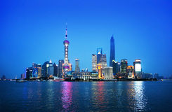 Shanghai at night, China Royalty Free Stock Photos
