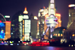 Shanghai at night, China. Bokeh, Shanghai at night, China Royalty Free Stock Photography