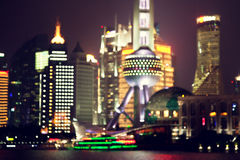 Shanghai at night, China Stock Images
