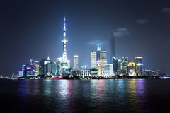 Shanghai at night, China Royalty Free Stock Images