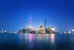 Shanghai at night, China. Skyline Shanghai at night, China Royalty Free Stock Image