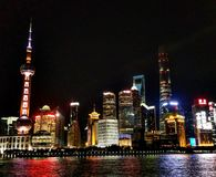 Shanghai by night. royalty free stock photography