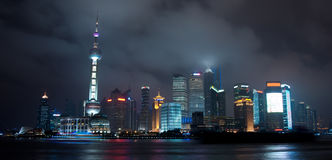 Shanghai night scene Stock Photos
