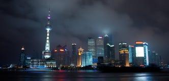 Shanghai night scene Stock Photos