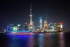 Shanghai night skyline Royalty Free Stock Images