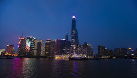 Shanghai Night Skyline View Royalty Free Stock Photography