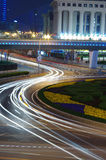 Shanghai night traffic Royalty Free Stock Photography