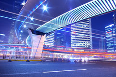 Shanghai night traffic Royalty Free Stock Image