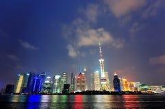 Shanghai at night Royalty Free Stock Image