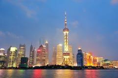 Shanghai at night Stock Photography