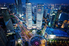 Shanghai night view, Asia Royalty Free Stock Photography
