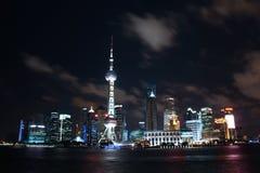 Shanghai. Night view of CBD royalty free stock photos