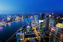 Shanghai night view, China Royalty Free Stock Image