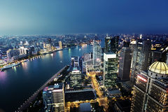 Shanghai night view, China Royalty Free Stock Images