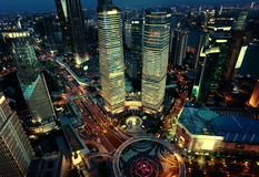Shanghai night view, China Royalty Free Stock Photography