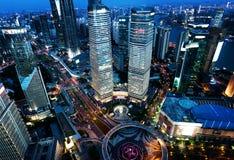 Shanghai night view, China Stock Image