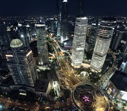 Shanghai night view Royalty Free Stock Photos