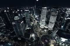 Shanghai night view Royalty Free Stock Images