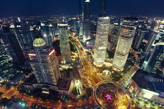 Shanghai night view Stock Photography