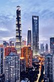 Shanghai night stock image