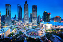 Shanghai night view. From the oriental pearl tower Royalty Free Stock Photos