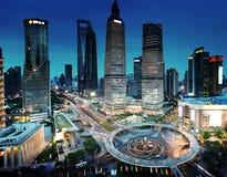 Shanghai night view Stock Photo