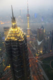 Shanghai night view overlooking the Royalty Free Stock Photography