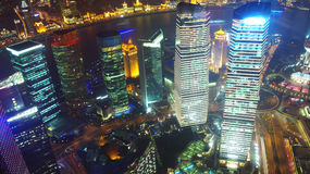 Shanghai night view overlooking the Royalty Free Stock Image