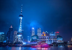 Shanghai night view Royalty Free Stock Image