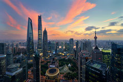 Shanghai at Nightfall Stock Image